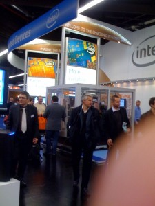 Intel's stand was big, but not as big as my finger!